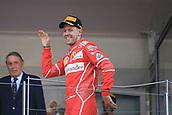 May 28th 2017, Monaco; F1 Grand Prix of Monaco Race Day;  Sebastian Vettel - Scuderia Ferrari wins the Monaco GP and celebrates on the podium