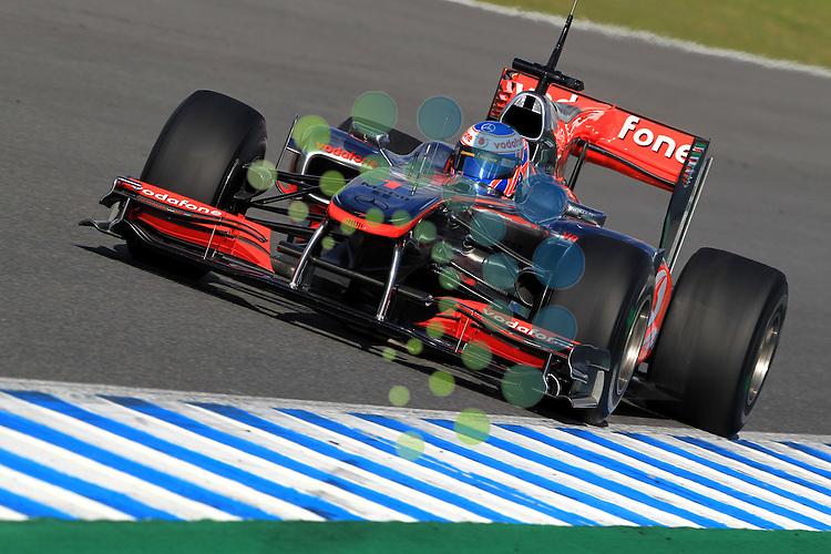 F1 Tests, Jerez Spain  10. - 14. February 2010.Jenson Button (GBR),  McLaren F1 Team  ..Hasan Bratic/Universal News And Sport (Germany) 12 February 2010.