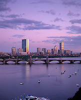 evening skyline of Back Bay, from Sonesta, Boston, MA