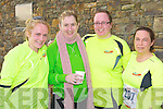 Niamh Cullinane, Ann O'Keeffe, Caroline McCarron and Niamh Hanley who ran the Puck Warriors Jingle run in Killorglin on Sunday in his memory ..