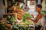 Havana, Cuba:<br /> Street scenes and market vendor, Old Havana