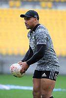 Ngani Laumape. All Blacks training at Westpac Stadium in Wellington, New Zealand on Thursday, 14 June 2018. Photo: Dave Lintott / lintottphoto.co.nz