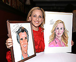 Marlee Matlin, with Henry Winkler portrait, attends the Marlee Matlin Sardi's Portrait unveiling at Sardi's Restaurant on November 24, 2015 in New York City.