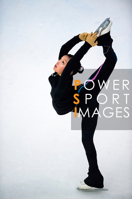Cheuk Ka Kahlen Cheung competes during the Asian Junior Figure Skating Challenge 2015 on October 07, 2015 at the Festival Walk Mall in Hong Kong, China. Photo by Aitor Alcalde/ Power Sport Images
