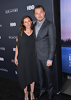"LOS ANGELES, USA. June 06, 2019: Leonardo DiCaprio & Leila Conners at the premiere for ""Ice on Fire"" at the LA County Museum of Art.<br /> Picture: Paul Smith/Featureflash"