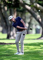 Fraser Wilkin during the Charles Tour Augusta Funds Management Ngamotu Classic, Ngamotu Golf Course, New Plymouth, New Zealand, Saturday 14 October 2017.  Photo: Simon Watts/www.bwmedia.co.nz