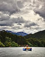 On the Futalefu River, Chile.