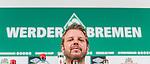 11.04.2019, Weserstadion, Bremen, GER, 1.FBL, PK SV Werder Bremen<br /> <br /> im Bild <br /> Florian Kohfeldt (Trainer SV Werder Bremen) <br /> bei PK / Pressekonferenz vor dem Heimspiel gegen SC Freiburg, <br /> <br /> Foto © nordphoto / Ewert