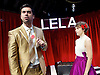 Lela &amp; Co <br /> by Cordelia Lynn <br /> directed by Jude Christian<br /> at the Royal Court Theatre, London, Great Britain <br /> press photocall <br /> 7th September 2015 <br /> <br /> Katie West <br /> as Lela <br /> <br /> David Mumeni <br /> as Man <br /> <br /> <br /> Photograph by Elliott Franks <br /> Image licensed to Elliott Franks Photography Services