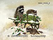 GIORDANO, CHRISTMAS ANIMALS, WEIHNACHTEN TIERE, NAVIDAD ANIMALES, paintings+++++,USGI2065/2,#XA#