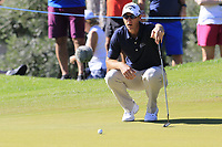 Nicolas Colsaerts (BEL) on the 10th green during Thursday's Round 1 of the 2018 Turkish Airlines Open hosted by Regnum Carya Golf &amp; Spa Resort, Antalya, Turkey. 1st November 2018.<br /> Picture: Eoin Clarke | Golffile<br /> <br /> <br /> All photos usage must carry mandatory copyright credit (&copy; Golffile | Eoin Clarke)