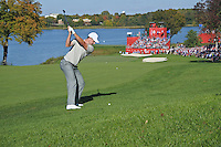 Justin Rose (Team Europe) on the 10th during Saturday afternoon Fourball at the Ryder Cup, Hazeltine National Golf Club, Chaska, Minnesota, USA.  01/10/2016<br /> Picture: Golffile | Fran Caffrey<br /> <br /> <br /> All photo usage must carry mandatory copyright credit (&copy; Golffile | Fran Caffrey)