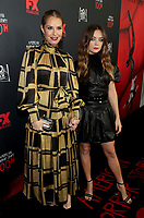 """LOS ANGELES - OCTOBER 26: (L-R) Leslie Grossman and Billie Lourd attend the red carpet event to celebrate 100 episodes of FX's """"American Horror Story"""" at Hollywood Forever Cemetery on October 26, 2019 in Los Angeles, California. (Photo by John Salangsang/FX/PictureGroup)"""
