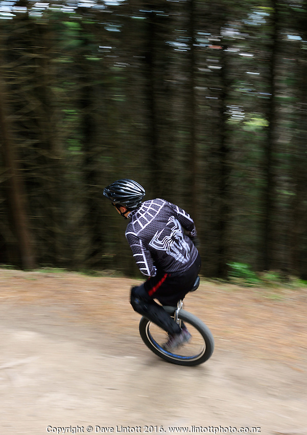 .15th Unicycling World Championships - Mountain Unicycling Downhill at Charles Plimmer Park, Wellington. Wednesday, 6 December 2010. Photo: Dave Lintott / lintottphoto.co.nz