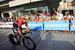Ivan Garcia Cortina (ESP) Bahrain-Merida during Stage 1 of the La Vuelta 2018, an individual time trial of 8km running around Malaga city centre, Spain. 25th August 2018.<br /> Picture: Ann Clarke | Cyclefile<br /> <br /> <br /> All photos usage must carry mandatory copyright credit (© Cyclefile | Ann Clarke)
