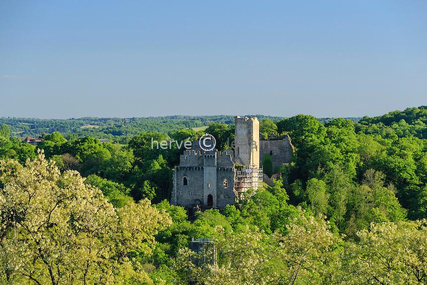 France, Haute-Vienne (87), Saint-Jean-Ligoure, château de Châlucet // France, Haute Vienne, Saint Jean Ligoure, Chalucet castle