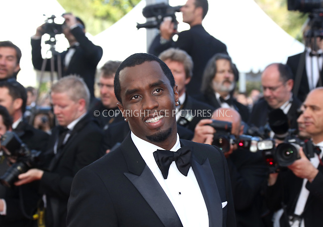 "WWW.ACEPIXS.COM . . . . .  ..... . . . . US SALES ONLY . . . . .....May 18 2012, Cannes....Sean Combs at the premiere of ""Lawless"" at the Cannes Film Festival on May 18 2012 in France ....Please byline: FAMOUS-ACE PICTURES... . . . .  ....Ace Pictures, Inc:  ..Tel: (212) 243-8787..e-mail: info@acepixs.com..web: http://www.acepixs.com"