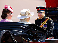 17 June 2017 - London, England - Duchess Kate, Princess Kate, Duchess of Cambridge and Camilla, Duchess of Cornwall, Prince Harry. The ceremony of the Trooping the Colour, marking the monarch's official birthday, in London. Photo Credit: PPE/face to face/AdMedia
