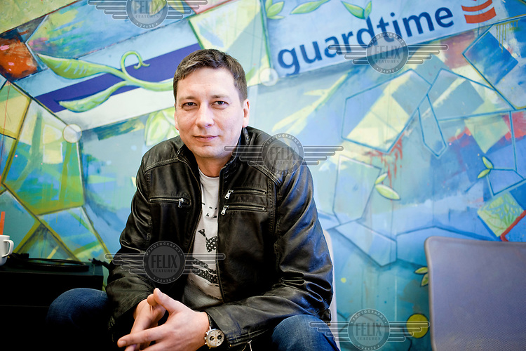 Martin Ruubel, president of Guardtime, in the company offices.
