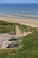 France, Normandie, Manche (50), Côte Est, plages du débarquement, Utah beach (vue aérienne) // France, Normandy, Manche, Est coast, Dday beaches, Utah Beach (aerial view)