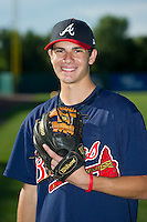 Dylan Cease (26) of Milton High School in Alpharetta, Georgia poses for a photo while playing for the Atlanta Braves scout team during the East Coast Pro Showcase on August 2, 2013 at NBT Bank Stadium in Syracuse, New York.  (Mike Janes/Four Seam Images)