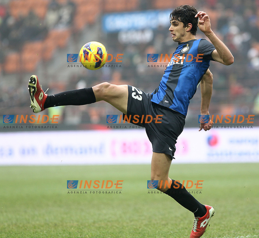 """Andrea Ranocchia Inter.Milano 22/12/2012 Stadio """"S.Siro"""".Football Calcio Serie A 2012/13.Inter v Genoa.Foto Insidefoto Paolo Nucci."""