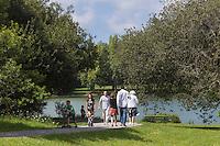 France, Aquitaine, Pyrénées-Atlantiques, Pays Basque, Biarritz: Lac Marion //  France, Pyrenees Atlantiques, Basque Country, Biarritz: Marion lake