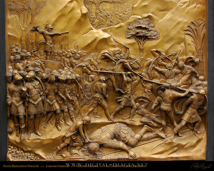David Beheading Goliath Gates of Paradise Ghiberti Baptistry of San Giovanni Florence