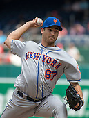 New York Mets relief pitcher Seth Lugo (67) works in the eighth inning against the Washington Nationals at Nationals Park in Washington, D.C. on Wednesday, August 1, 2018.  The Nationals won the game 5 - 3.<br /> Credit: Ron Sachs / CNP<br /> (RESTRICTION: NO New York or New Jersey Newspapers or newspapers within a 75 mile radius of New York City)