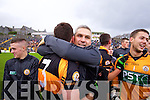 Barry Shanahan and Stephen Stack Manager  Austin Stacks players celebrate winning the Kerry Senior County Football Final at Fitzgerald Stadium on Sunday.