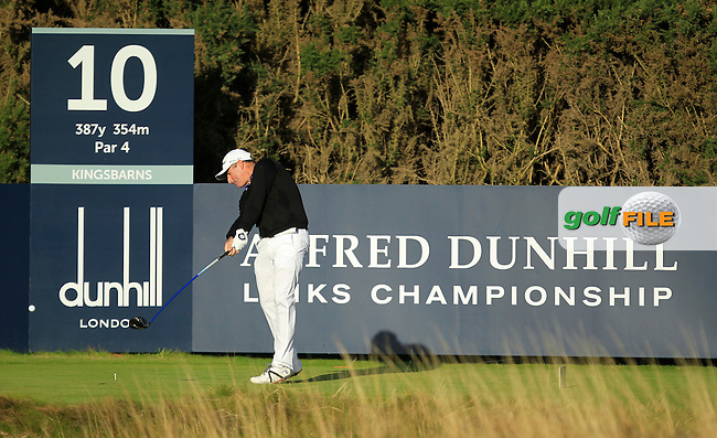 Matthew Millar (AUS) during Round 1of the Alfred Dunhill Links Championship at Kingsbarns Golf Club on Thursday 26th September 2013.<br /> Picture:  Thos Caffrey / www.golffile.ie
