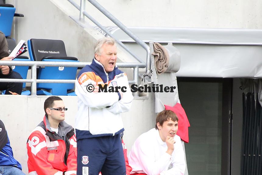 Trainer Benno Möhlmann (FSV) - FSV Frankfurt vs. FC Erzgebirge Aue, Frankfurter Volksbank Stadion