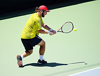 Zach Waanga. 2017 Wellington Open tennis championship at Renouf Tennis Centre in Wellington, New Zealand on Wednesday, 20 December 2017. Photo: Dave Lintott / lintottphoto.co.nz