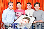 Killian, Aaron, Ryan and Damien O'Carroll, Killarney, who will be fundraising in memory of their brother Nathan, to help other young people in times of crisis.