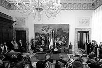 Roma, 15 Maggio 2015<br /> Raul Castro e Matteo Renzi.<br /> Palazzo Chigi<br /> Il Presidente del Consiglio Matteo Renzi incontra il Presidente della Repubblica di Cuba Raul Castro.<br /> Rome, May 15, 2015<br /> Palazzo Chigi<br /> The Prime Minister Matteo Renzi meets the President of the Republic of Cuba Raul Castro