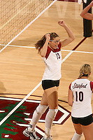 3 December 2005:  Lizzy Suiter during Stanford's 3-1 loss to Santa Clara University at Maples Pavilion in Stanford, CA.