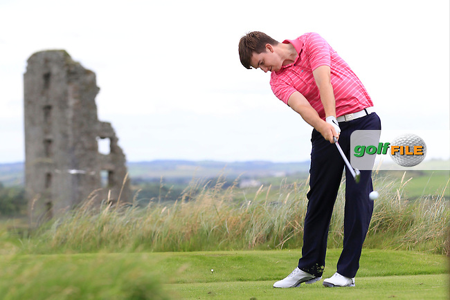 John Hickey (Cork) on the 13th tee during Round 4 of The South of Ireland in Lahinch Golf Club on Monday 28th July 2014.<br /> Picture:  Thos Caffrey / www.golffile.ie