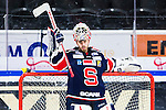 S&ouml;dert&auml;lje 2014-10-23 Ishockey Hockeyallsvenskan S&ouml;dert&auml;lje SK - Malm&ouml; Redhawks :  <br /> S&ouml;dert&auml;ljes m&aring;lvakt Tim Sandberg <br /> (Foto: Kenta J&ouml;nsson) Nyckelord: Axa Sports Center Hockey Ishockey S&ouml;dert&auml;lje SK SSK Malm&ouml; Redhawks portr&auml;tt portrait