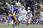 Los Angeles, CA 04/11/09 -  Patrick Hubregsen (LMU #31) guards Oisin Lewis (UCSB#2) during the second period of play of the UCSB-LMU men's lacrosse game.  UCSB defeated LMU 12-9.