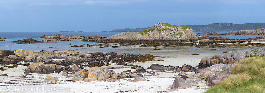 Fidden, Ross of Mull, Isle of Mull, Scotland, UK. Digitally stitched panorama.