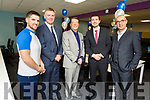 Sigmar Recruitment launch their new Tralee Offices which is now their European HQ, in Leiber House, Monavalley on Tuesday.<br /> L-r, Shaun O'Shea, Cllr Graham Spring (Mayor of Tralee), Adrian McGuinness, Minister Brendan Griffin TD and Jerome Rieux (CEO Group Adequat).