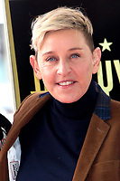LOS ANGELES - FEB 5:  Ellen DeGeneres at the Pink Star Ceremony on the Hollywood Walk of Fame on February 5, 2019 in Los Angeles, CA