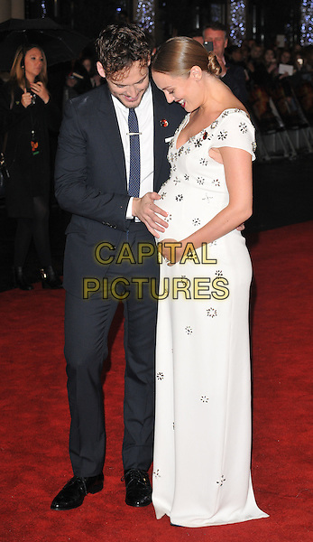 Sam Claflin &amp; Laura Haddock attends the &quot;The Hunger Games: Mockingjay Part 2&quot; UK film premiere, Odeon Leicester Square, Leicester Square, London, England, UK, on Thursday 05 November 2015. <br /> CAP/CAN<br /> &copy;Can Nguyen/Capital Pictures