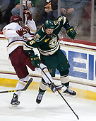 David Cotton (BC - 17), Rob Hamilton (UVM - 5) - The Boston College Eagles defeated the University of Vermont Catamounts 7-4 on Saturday, March 11, 2017, at Kelley Rink to sweep their Hockey East quarterfinal series.The Boston College Eagles defeated the University of Vermont Catamounts 7-4 on Saturday, March 11, 2017, at Kelley Rink to sweep their Hockey East quarterfinal series.