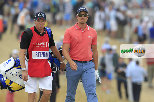 Henrik STENSON (SWE) during round 4 of  The 142th Open Championship Muirfield, Gullane, East Lothian, Scotland 21/7/2013<br /> Picture Eoin Clarke www.golffile.ie: