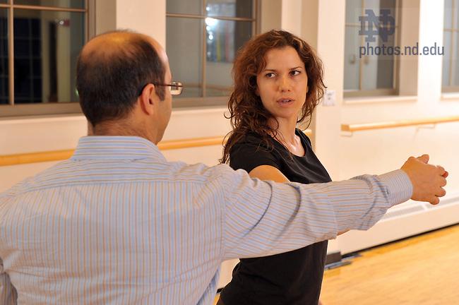 Latin Dance Class at RSRC..Photo by Matt Cashore/University of Notre Dame
