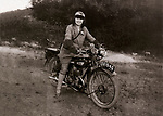 Young lady on a1928/9 BSA 250cc side valve motorcycle off road circa 1929     Date: