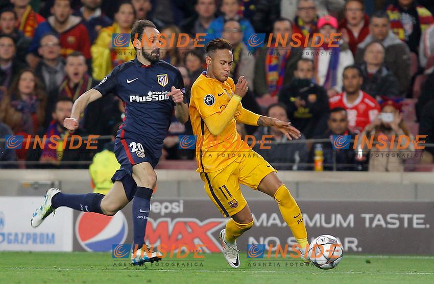 neymar (barca) - juanfran (atletico) <br /> Barcellona 05-04-2016 <br /> Football Calcio 2015/2016 Champions League <br /> Barcellona - Atletico Madrid Quarti di finale<br /> Foto Panoramic / Insidefoto <br /> ITALY ONLY