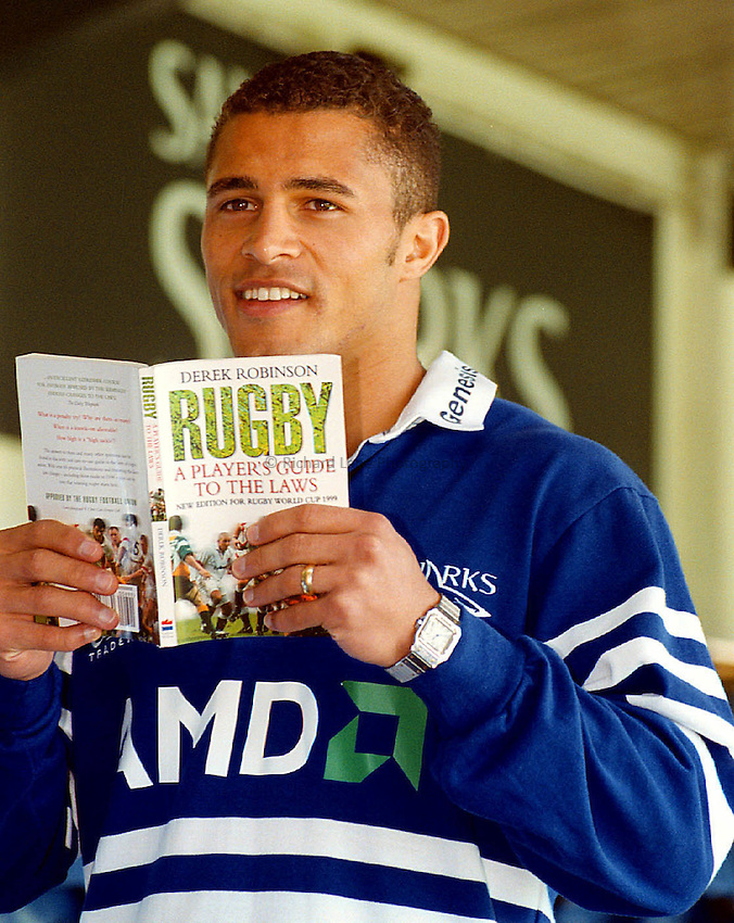 Jason Robinson Press Conference_171000_Mike Bret.Jason Robinson has signed for Sale Sharks R.F.C.He admits he needs to learn the rules