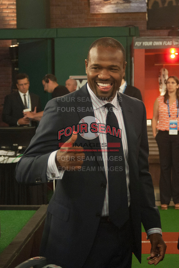 Former Seattle Mariners all star infielder Harold Reynolds during the MLB Draft on Thursday June 05,2014 at Studio 42 in Secaucus, NJ.   (Tomasso DeRosa/ Four Seam Images)